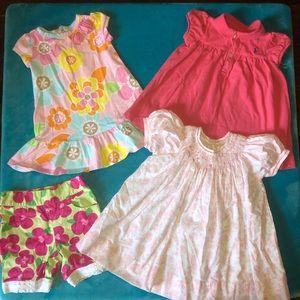 5 piece baby girl lot Ralph Lauren Gymboree 6 mo